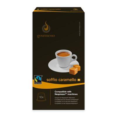 gourmesso 10-Count Caramel Soffio Caramello Nespresso® Compatible Espresso Capsules