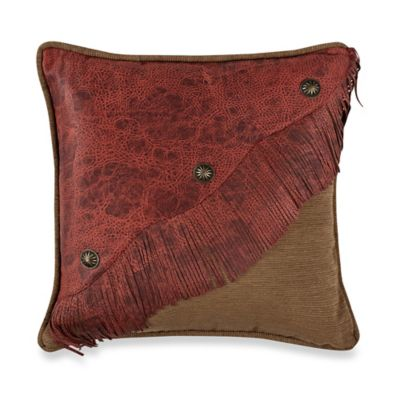 HiEnd Accents San Angelo Fringed Accent Pillow