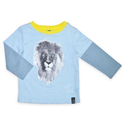 Charlie Rocket™ Size 2T Lion Long-Sleeve 2fer Shirt in Blue