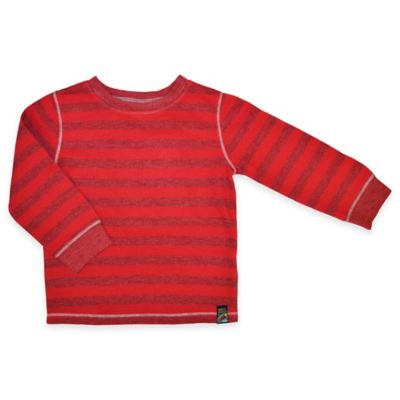 Charlie Rocket™ Size 2T Stripe Long-Sleeve Thermal Shirt in Red