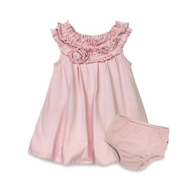 Burt's Bees Baby® Size 12M Organic Cotton 2-Piece Bubble Dress and Diaper Cover Set in Blossom