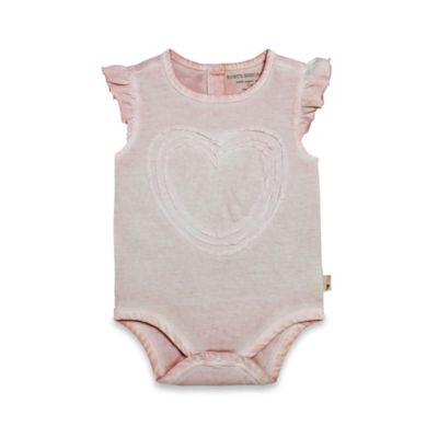 Burt's Bees Baby® Size 18M Organic Cotton Sun Bleached Flutter Sleeve Bodysuit in Blossom