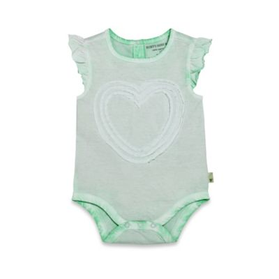 Burt's Bees Baby® Size 18M Organic Cotton Sun Bleached Flutter Sleeve Bodysuit in Succulent