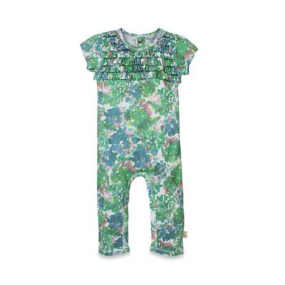 Burt's Bees Baby® Size 12M Organic Cotton Short-Sleeve Ruffle Coverall