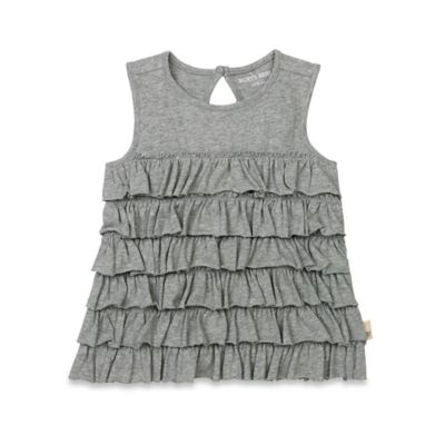 Burt's Bees Baby® Size 0-3M Organic Tiered Ruffle Tank in Heather Grey