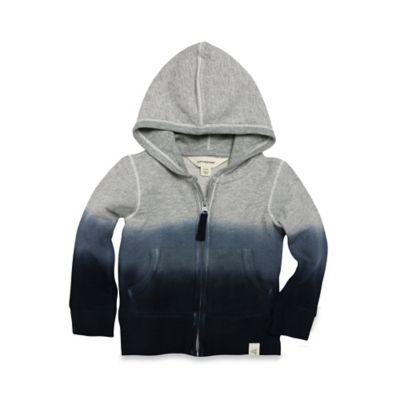 Burt's Bees Baby® Size 18M Organic Cotton Loose Pique Dip Dye Hoodie in Grey/Blue