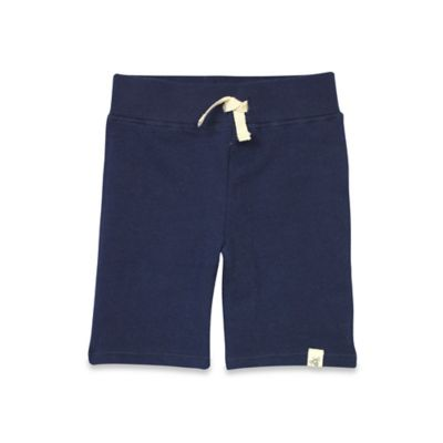 Burt's Bees Baby® Size 0-3M Organic Cotton Loose Pique Short in Navy