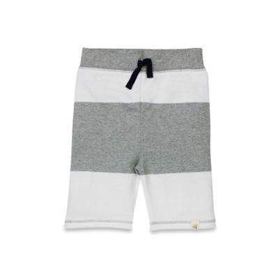 Burt's Bees Baby® Size 0-3M Organic Cotton Bold Stripe Short in Grey