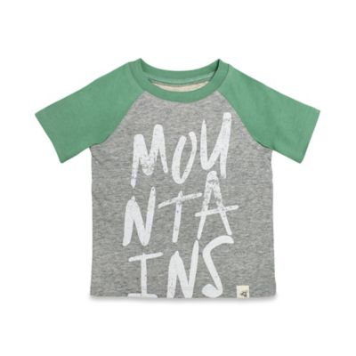 Burt's Bees Baby® Size 0-3M Mountains Raglan Shirt in Green