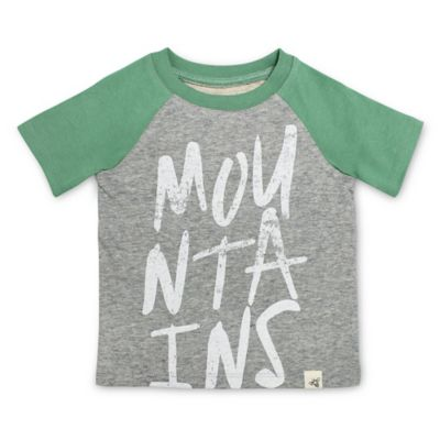 Burt's Bees Baby® Size 18M Mountains Raglan Shirt in Green