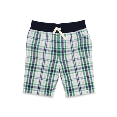 Burt's Bees Baby® Size 3T Plaid Short in Navy