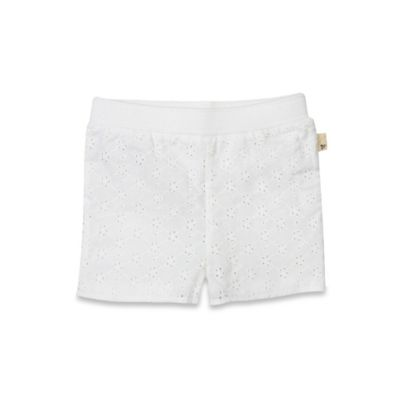 Burt's Bees Baby® Size 0-3M Organic Crochet Shorts in Cloud