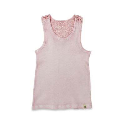 Burt's Bees Baby® Size 12M Sun Bleached Crochet Back Organic Cotton Tank in Blossom