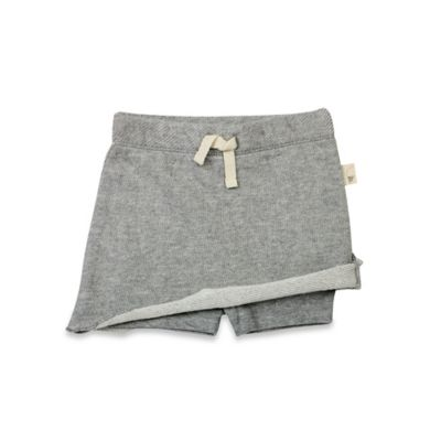 Burt's Bees Baby® Size 0-3M Organic Cotton Pique Skort in Gray