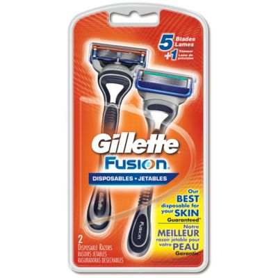 Gillette® Fusion® 2-Count Disposable Razors