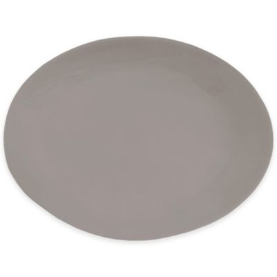 Artisanal Kitchen Supply™ Curve Oval Serving Platter in Grey