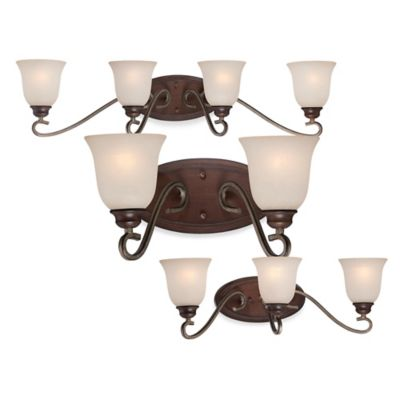 Minka Lavery® Gwendolyn Place 1-Light Wall-Mount Bath Fixture in Sienna with Glass Shade