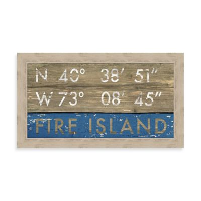 """Fire Island"" Rustic Coastal Framed Wall Art"