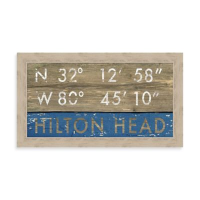 """Hilton Head"" Rustic Coastal Framed Wall Art"