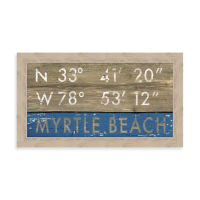"""""""Myrtle Beach"""" Rustic Coastal Framed Wall Art"""