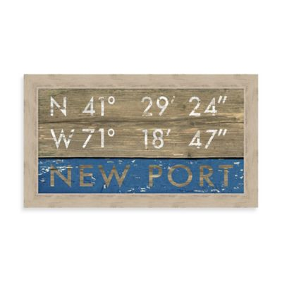 Newport Rustic Coastal Framed Wall Art