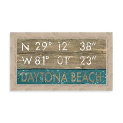 """Daytona Beach"" Rustic Coastal Framed Wall Art"