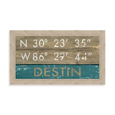 Destin Rustic Coastal Framed Wall Art