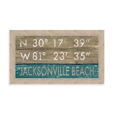 Jacksonville Beach Rustic Coastal Framed Wall Art