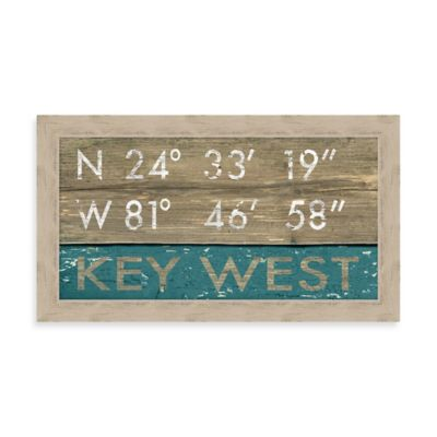 Key West Rustic Coastal Framed Wall Art