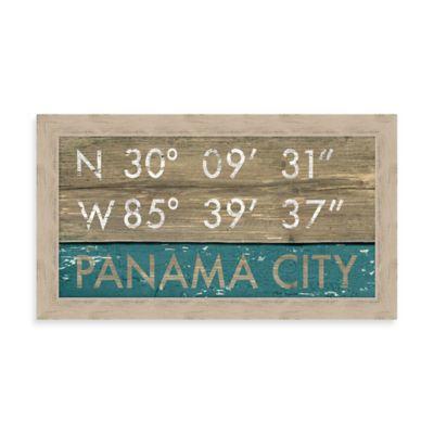 Panama City Beach Rustic Coastal Framed Wall Art