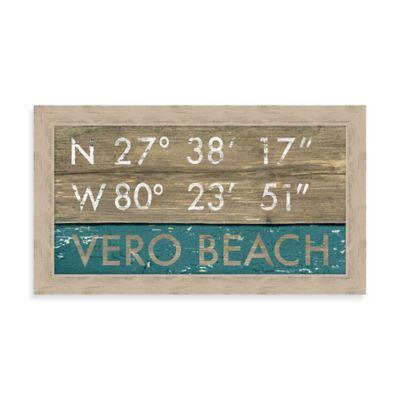 Vero Beach Rustic Coastal Framed Wall Art
