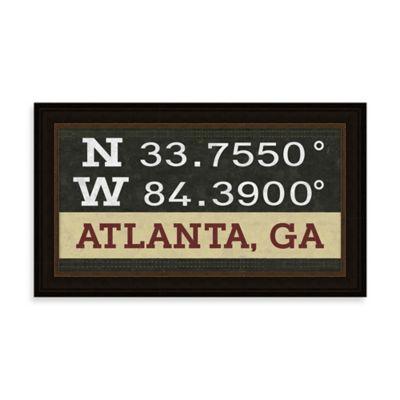 Atlanta, GA Map Coordinates Sign