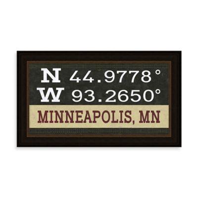 Minneapolis, MN Map Coordinates Sign