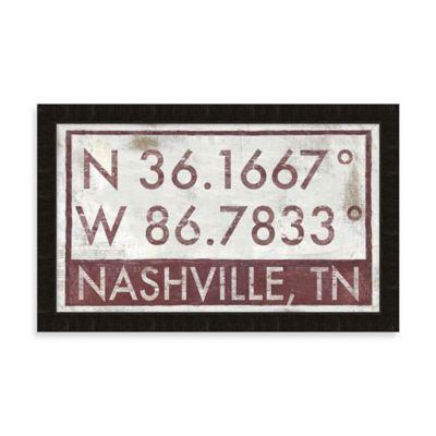 Nashville, TN Map Coordinates Sign