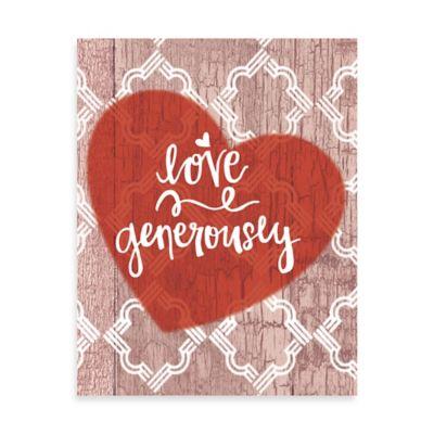 Love Generously Quatrefoil Wall Art