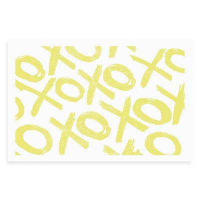 Distressed Yellow Tic Tac Toe Wall Art