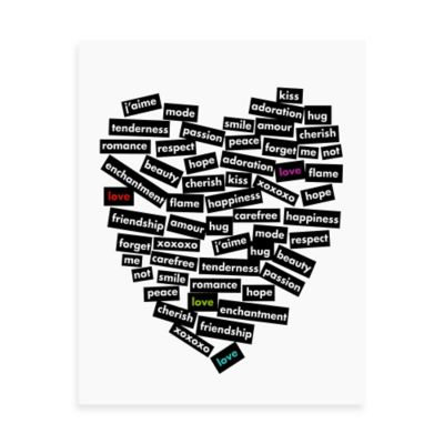 Love Stickers Words of the Heart Wall Art