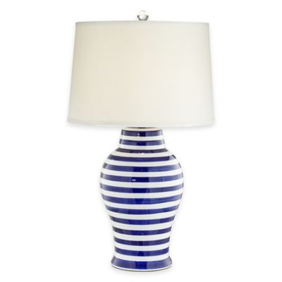 Pacific Coast® Lighting Kathy Ireland Home® Stripes Table Lamp in Blue/White