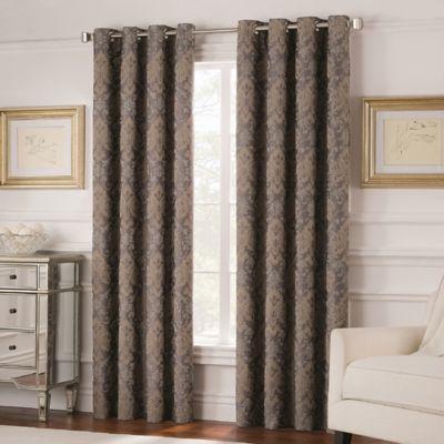 Valeron Belvedere 63-Inch Grommet Top Room-Darkening Window Curtain Panel in Grey