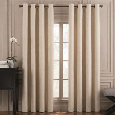 Valeron Belvedere Solid 108-Inch Grommet Top Room-Darkening Window Curtain Panel in Ivory