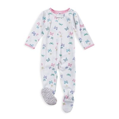 carter's® Size 24M Zip-Front All-Over Butterfly Footed Pajama