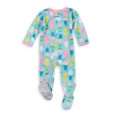 carter's® Size 12M Zip-Front Ice Cream Footed Pajama in Blue