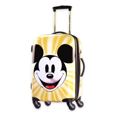 Disney® Mickey Face 21-Inch 4-Wheel Carry On Spinner Suitcase from American Tourister®