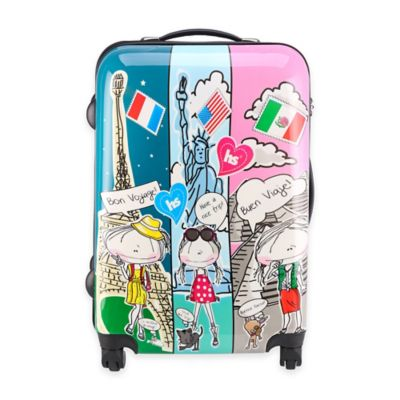 Hablando Sola Journey Around the World 26-Inch Hardcase Spin Luggage