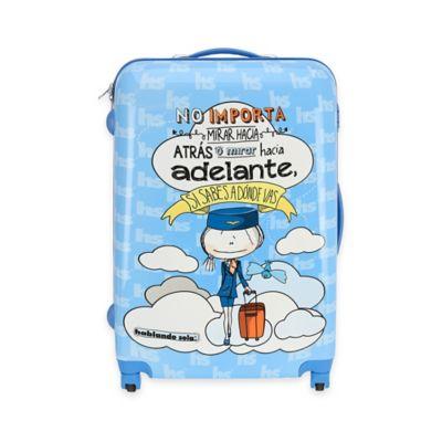 Hablando Sola Adelante 22-Inch Hardcase Spin Luggage in Blue