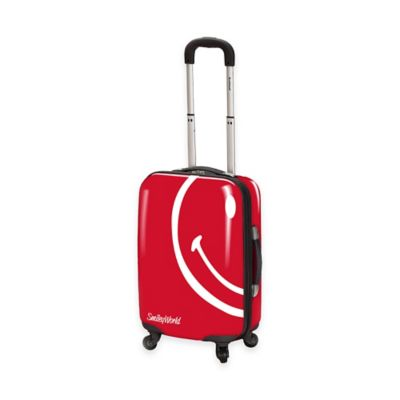 Smiley World Wink 22-Inch Hardcase Luggage in Red