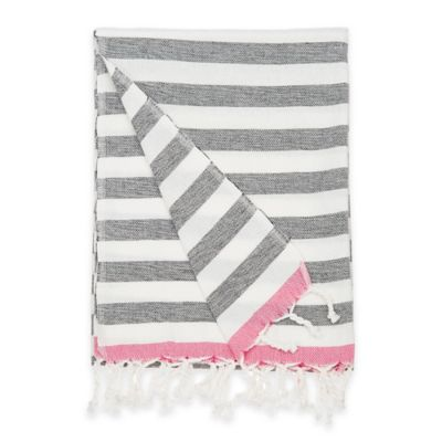 Perissa Fouta Beach Wrap in Black