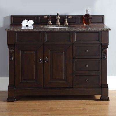 James Martin Furniture Brookfield Single Cabinet without Countertop in Burnished Mahogany