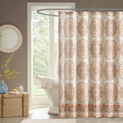 Madison Park Tangiers Shower Curtain in Blue