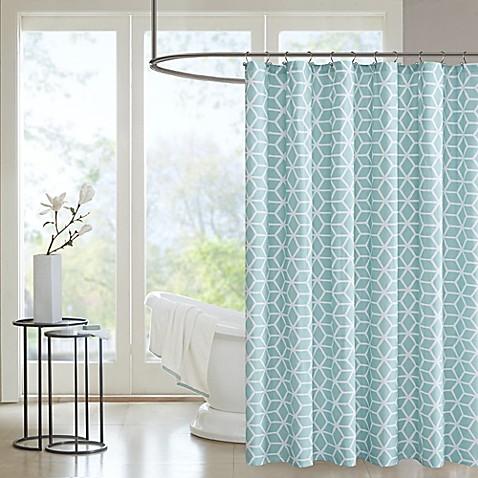 park pure alexa aqua shower curtain in aqua from bed bath beyond